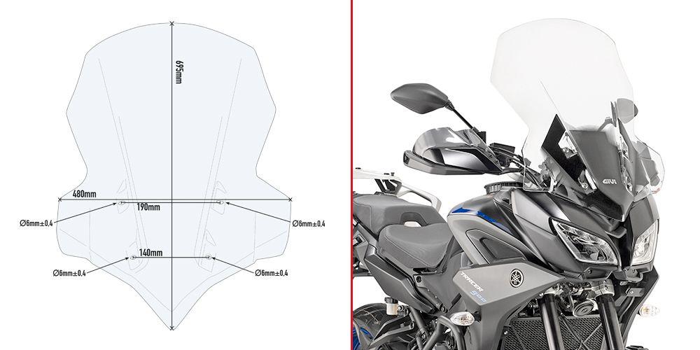 Yamaha Tracer 900 / Tracer 900 GT (18 > 20) Ön Cam Siperlik (Givi 2139DT)
