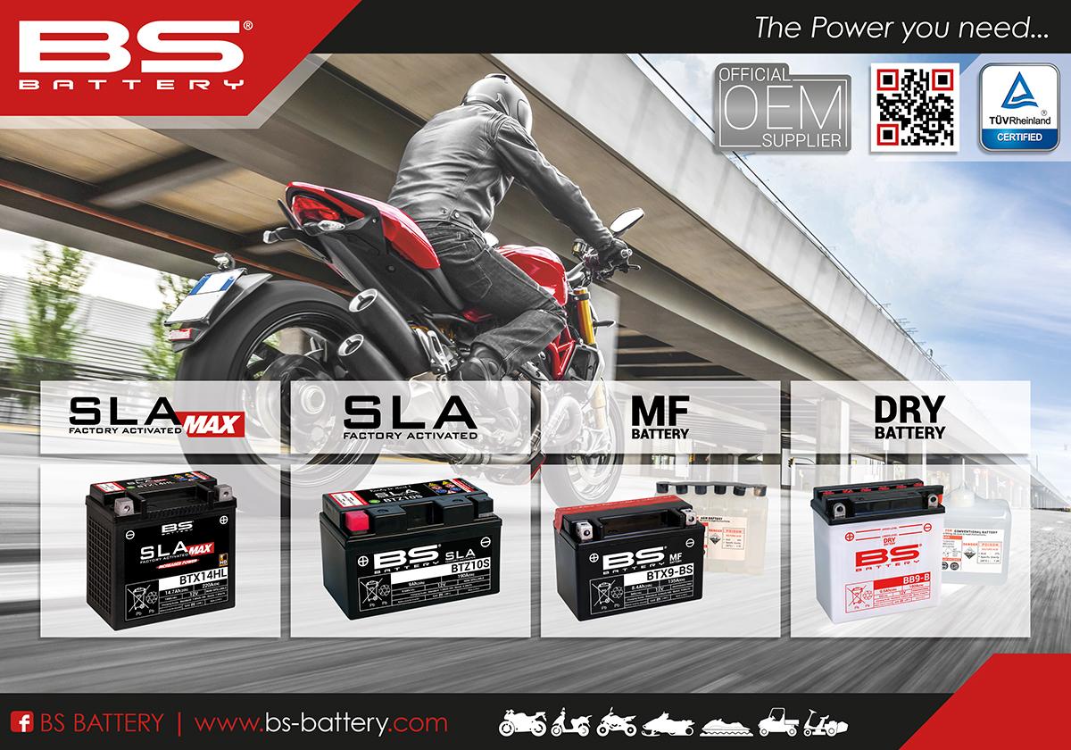 BS BTX14H (SLA MAX) Motosiklet Aküsü