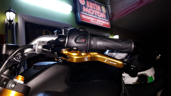Yamaha Fazer 800 Rizoma Katlanır Manet Gold Black