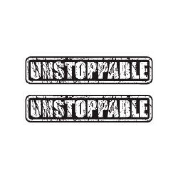 Mr.Sticker RFHLM134 Reflektif Durdurulamaz (Unstoppable) Etiket 2'li Set
