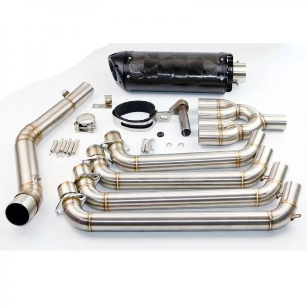 Honda Cb 650f Cbr 650f Two Tip Full System Headers Carbon Egzoz-
