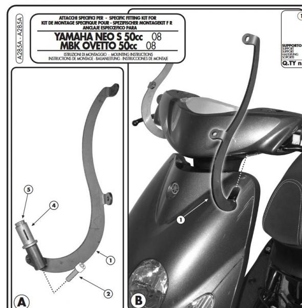 Yamaha NEOS 50 (08-18) Ön Cam Bağlantısı  Kappa A285AK