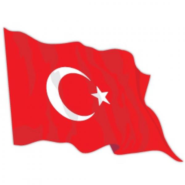 Mr.Sticker CFL13 -1185 - Turkey Flag Sticker
