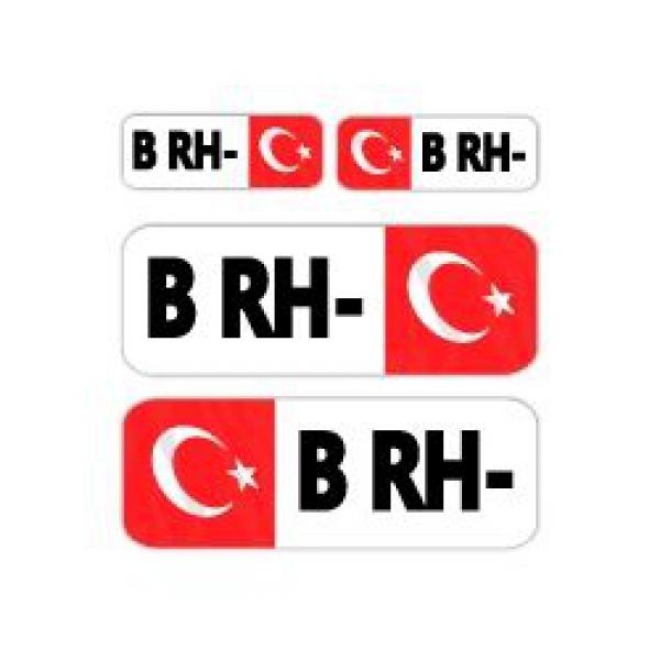 Mr.Sticker BT06 - B-RH- Kan Grubu Sticker