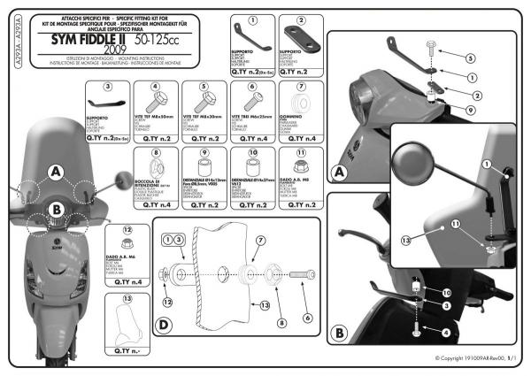 Givi A293A Kit Bağlantı