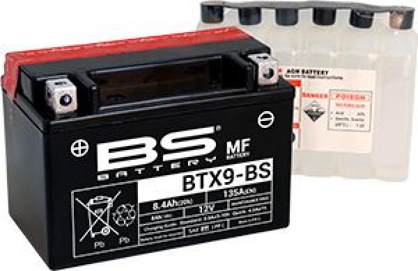BS MF-BTX9-BS Motosiklet Aküsü