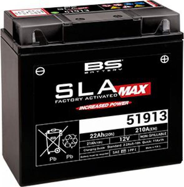 BS 51913 SLA MAX Motosiklet Aküsü
