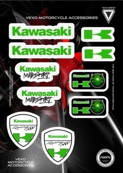 Vexo X25 Sticker Set (Kawasaki)