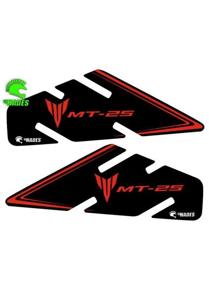 Hades Yamaha MT25 Yan Depo Pedi (Kırmızı-Siyah)
