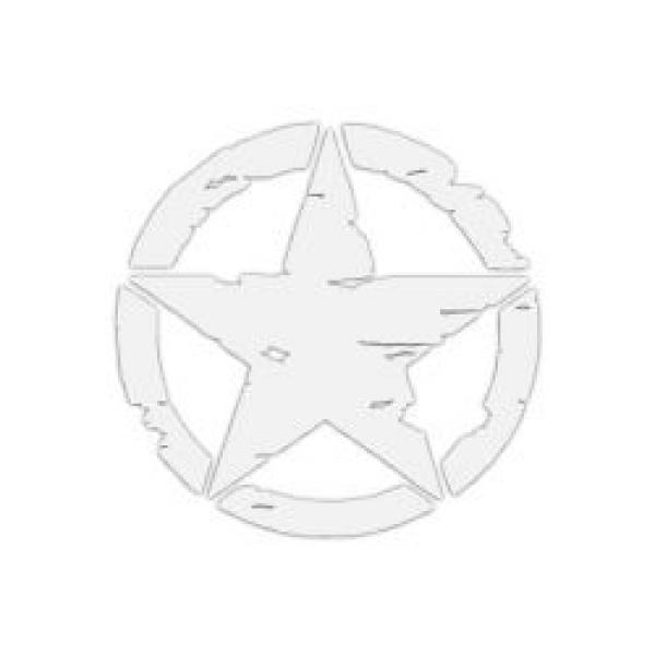 Mr.Sticker RFHLM88 Reflektif Eskitilmiş Desenli Asker Yıldızı Sticker