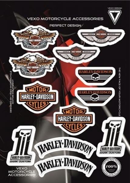 Vexo X28 Sticker Set Harley