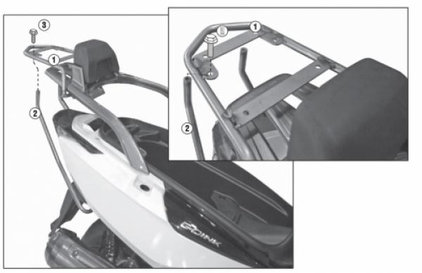 Kymco G-Dink 125-300 (12 > 17) Arka Çanta Taşıyıcısı (Givi SR6101)