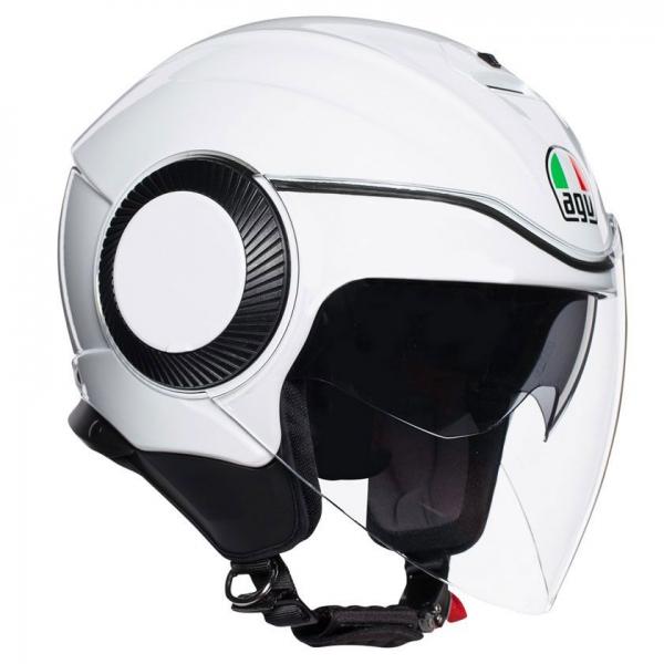 AGV Orbyt Güneş Vizörlü Açık Kask (Beyaz)