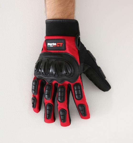 Forte GT 10 Yazlık Korumalı Eldiven (Kırmızı-Siyah)