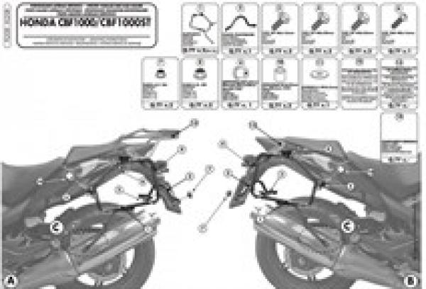 Givi Pl208 Honda Cbf 1000 - Cbf 1000St (10-14) Yan Çanta Taşıyıcı
