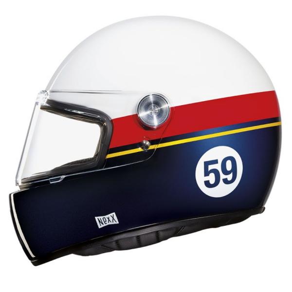 Nexx X.G100 Racer Grand Win Kask (Beyaz-Kırmızı-Mavi)