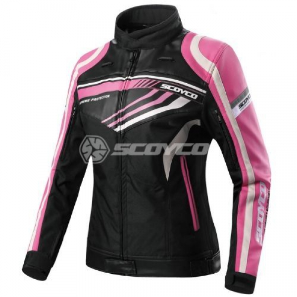 Scoyco JK37 Yazlık Bayan Motosiklet Montu (Siyah-Pembe)