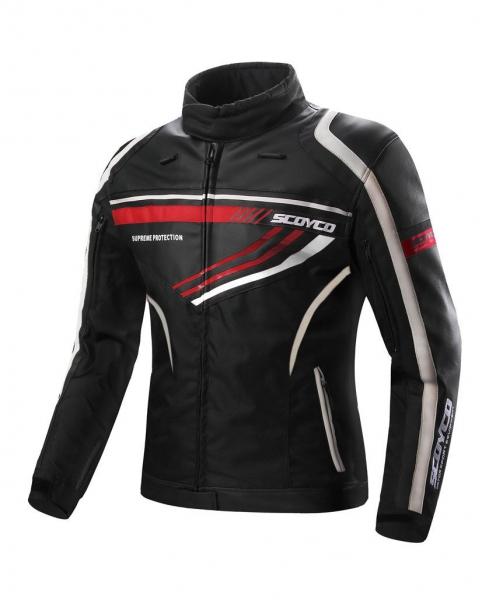 Scoyco JK37 Yazlık Bayan Motosiklet Montu (Siyah-Kırmızı)