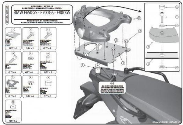 Givi E194M Bmw F 650 Gs - F 800 Gs (08-17) Arka Çanta Taşıyıcı