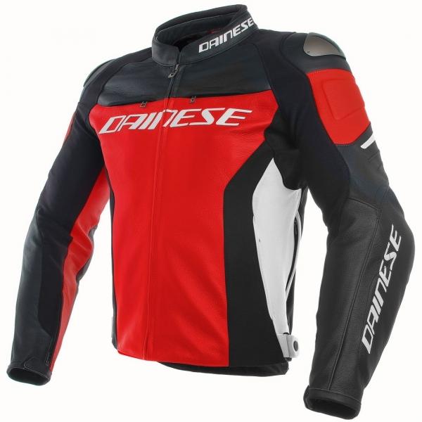 Dainese Racing 3 Deri Mont (Kırmızı-Siyah-Beyaz)