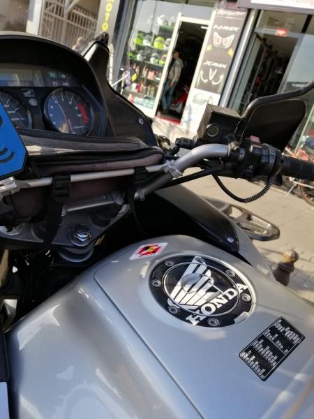 Honda Varadero Özel Depo Kapak Pedi Black White
