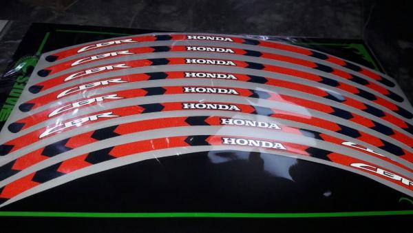 Honda Cbr Jant Şeridi Red Black