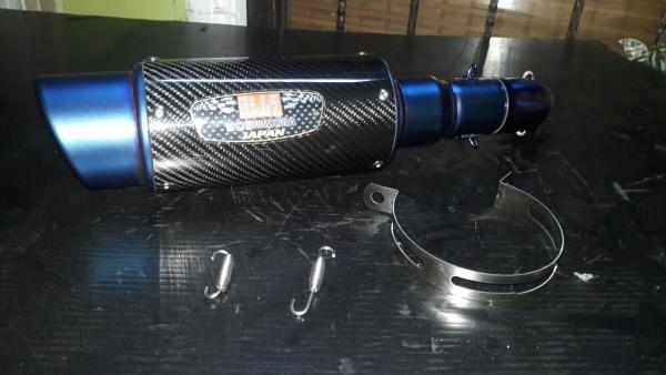 Yamaha Yzf R25-Mt25 Blue Slip On Carbon Egzoz