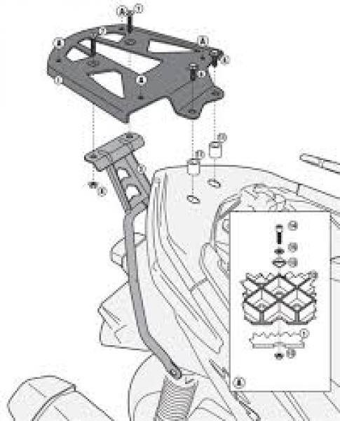 Yamaha X-MAX 400 (13>16) Arka Çanta Taşıyıcısı (Givi SR2111M)Yamaha
