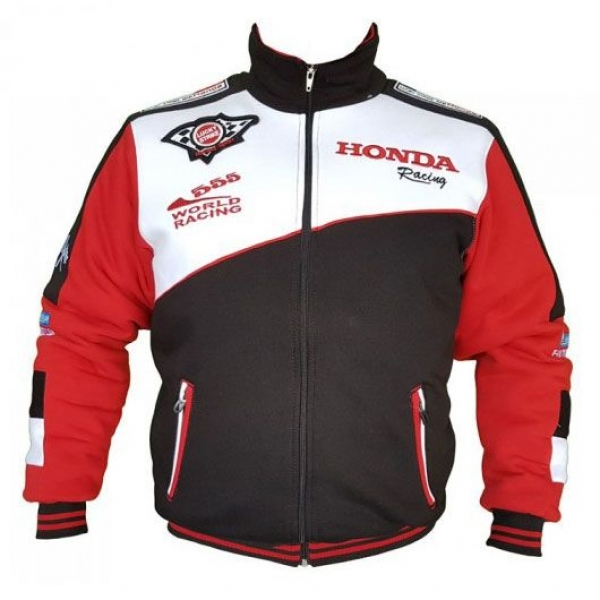 Moto Honda Fermuarlı Polar Mont