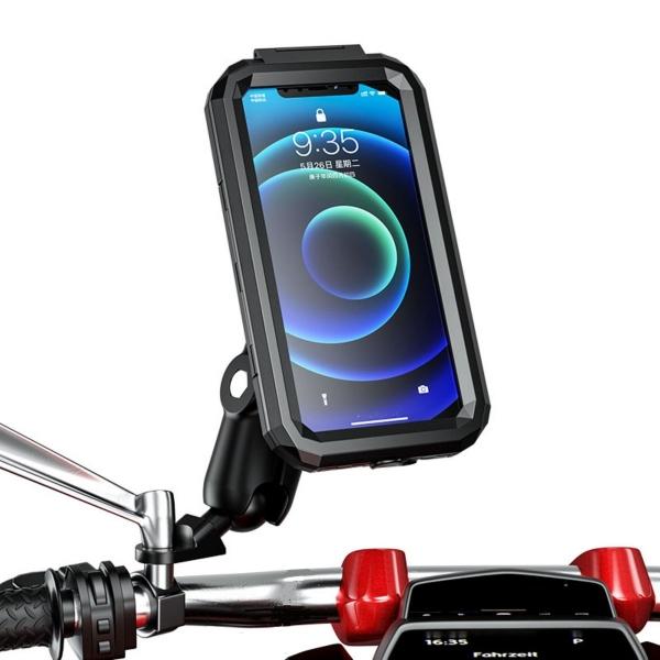 Nukrotech M18-53 Su Geçirmez Telefon Tutucu Mafsallı (Ayna Dibi Bağlantılı)