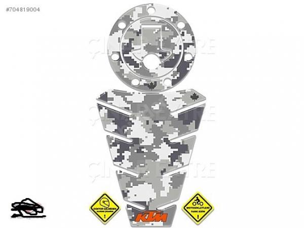 2016 KTM Duke 125 200 250 390 Gri Kamuflaj Tank & Depo Pad Takım